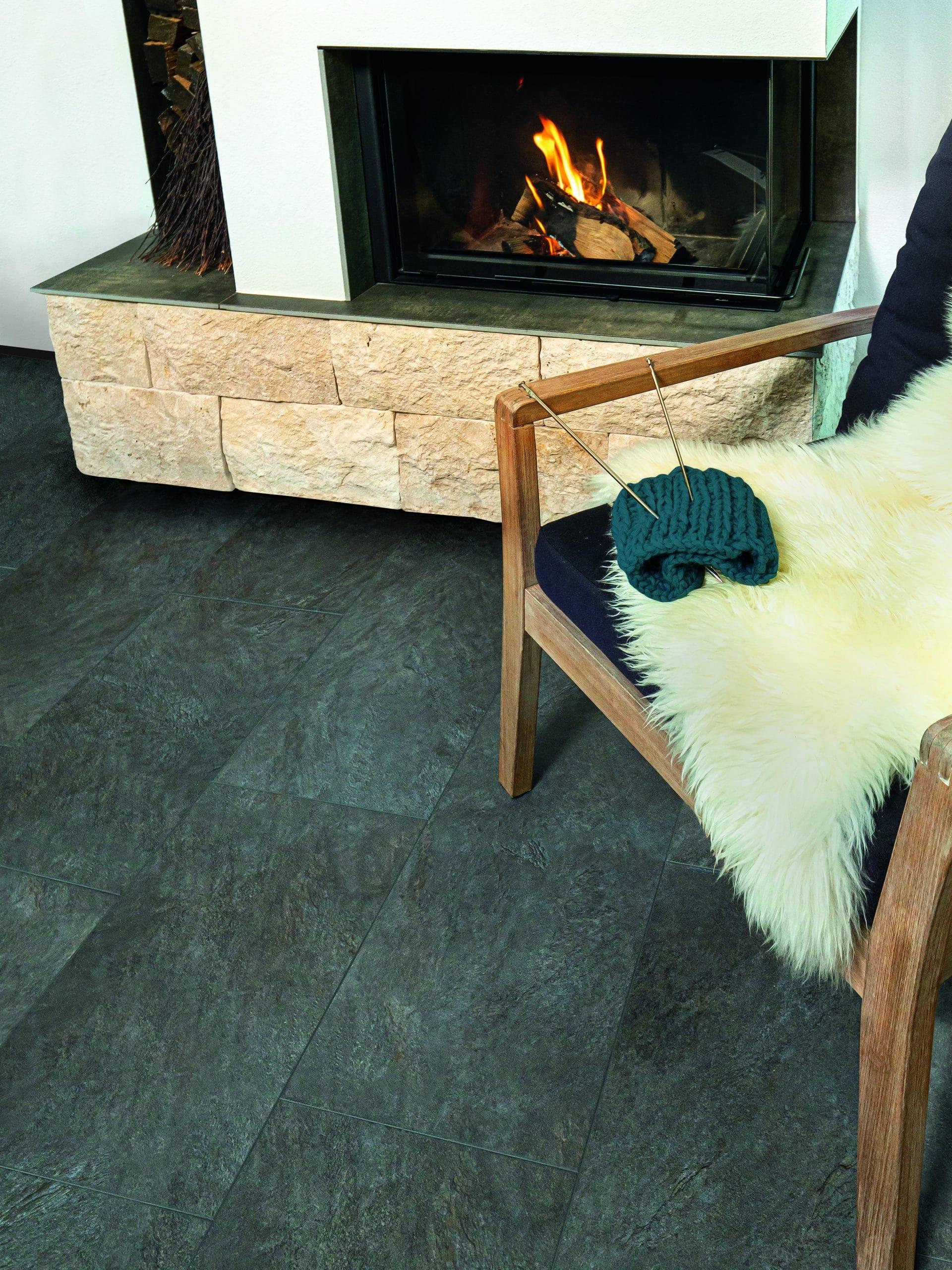 Boden Wearmax - Wohnzimmer Kamin